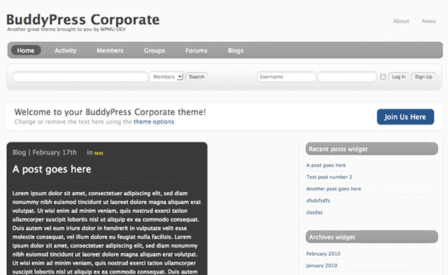BuddyPress Corporate