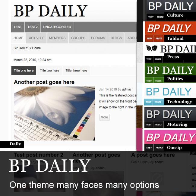 BP Daily  - wordpress Theme