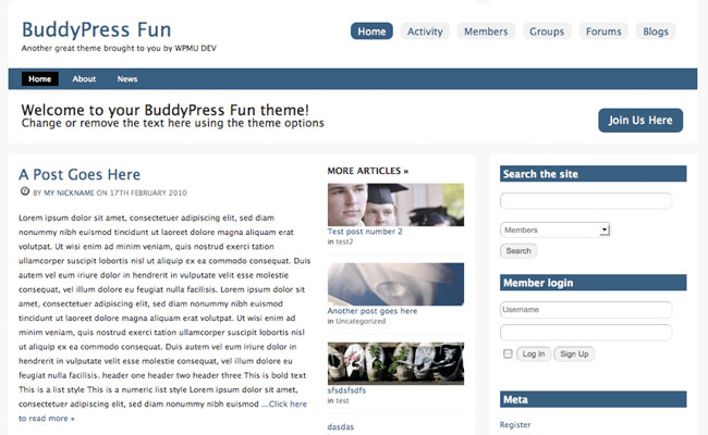 BuddyPress Fun