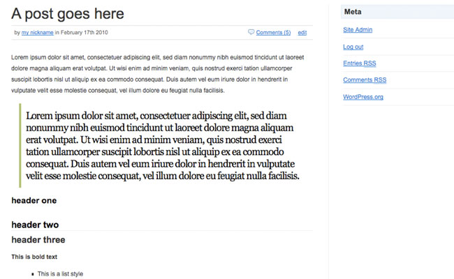 Edublogs Homepage Theme Post