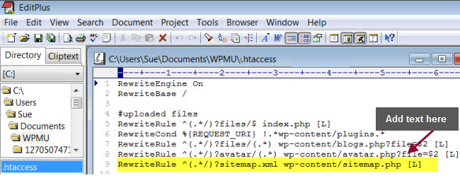Add RewriteRule to .htaccess file