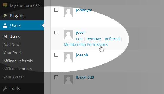 Membership Admin Permissions