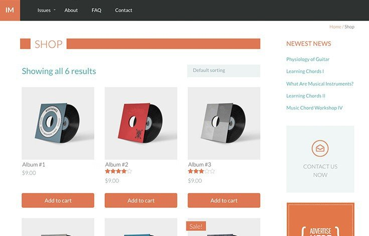 Upfront has MarketPress styles built-in so you can set up an ecommerce shop in minutes.