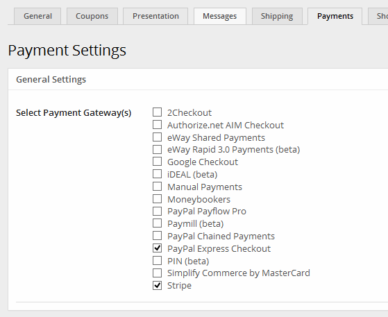 MarketPress Payments