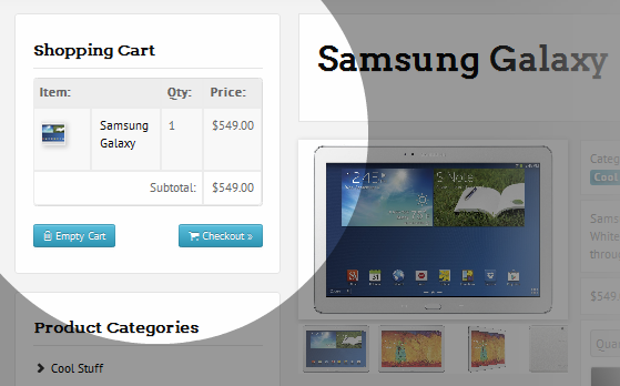 MarketPress Cart Widget on Front