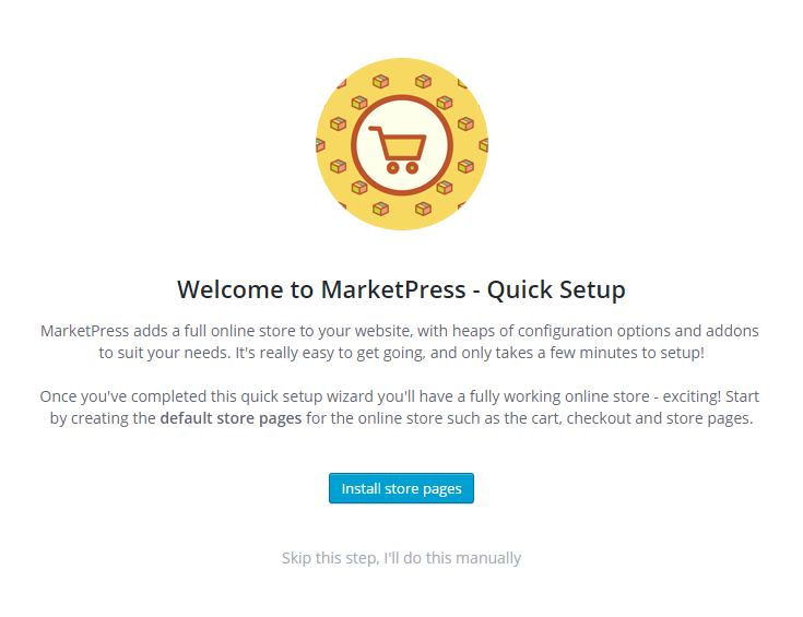 MarketPress - Quick Setup Start