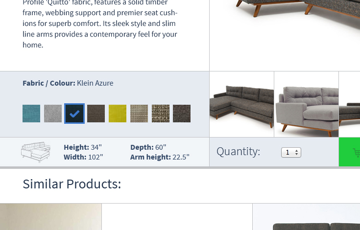 Tie variations of any kind into product pages.