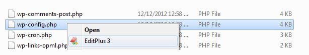 Open using EditPlus