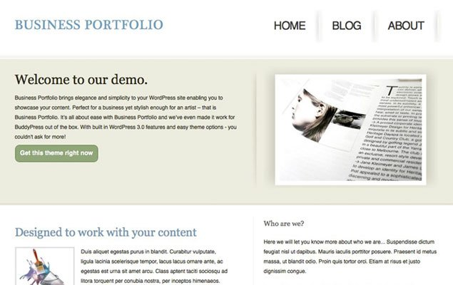 Business Portfolio Home Page