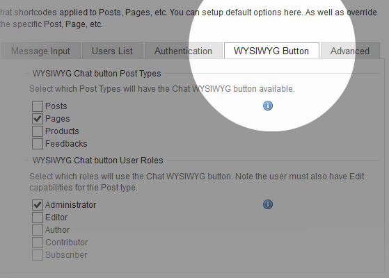 wordpress-chat-settings-page-wysiwyg-settings