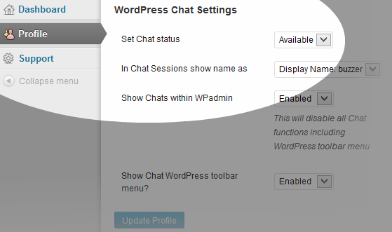 wordpress-chat-user-profile-settings