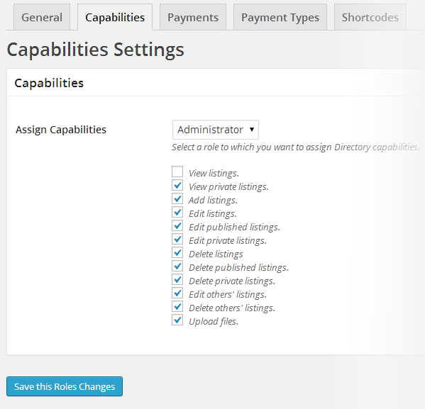 Directory capability tab