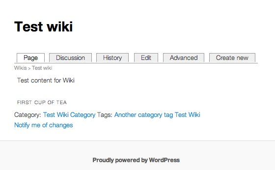 Test wiki - Front of Wiki Article