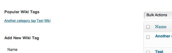 Wiki Tags - Popular tags