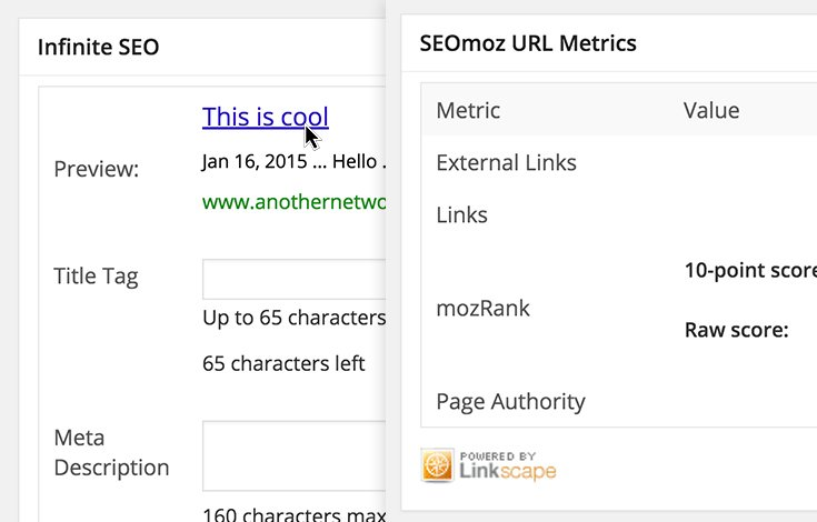 Add SEO control to every page and post.