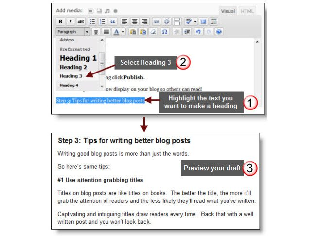 How to add a heading style
