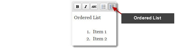 Ordered List