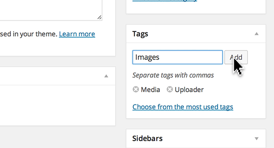 Type a keyword and click add.