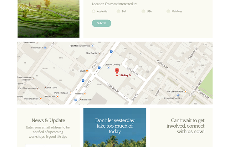 Share a big beautiful map on your contact page.