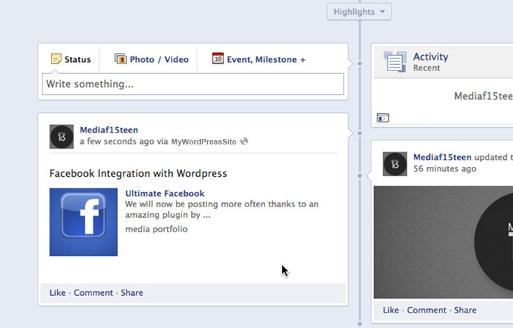 Automatically share new posts on your blog to Facebook.
