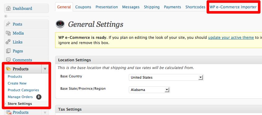 WP e-Commerce Importer