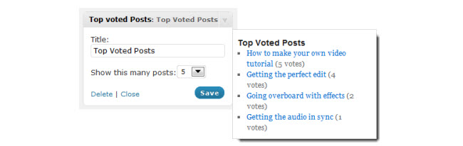 Top Voted Post Widget