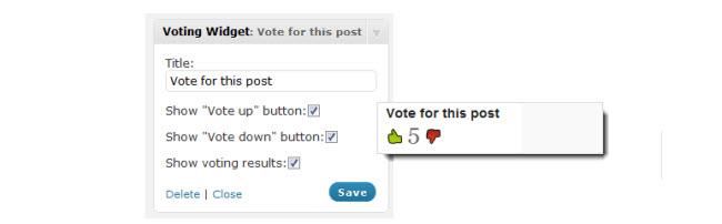 Voting Widget