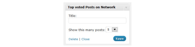 The Top rated network post widget