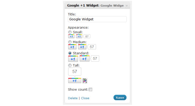 Google+1 widget