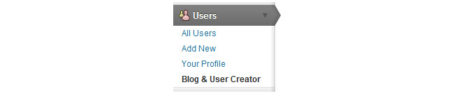 Blog and user creator