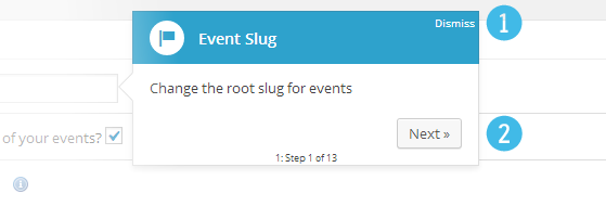 Events - Tutorial popup