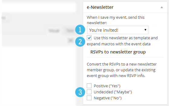 Events e-Newsletter integration
