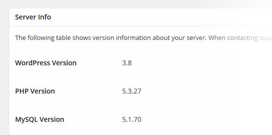 Snapshot Server Info