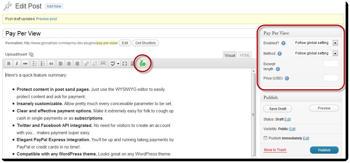 Pay Per View Wordpress Plugin
