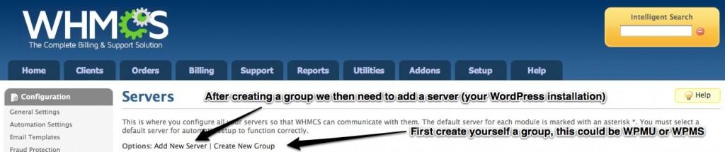 WHMCS - Creating Servers