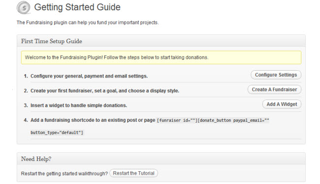 Adding a fundraiser