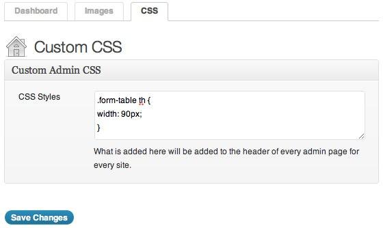 Ultimate Branding - Admin CSS