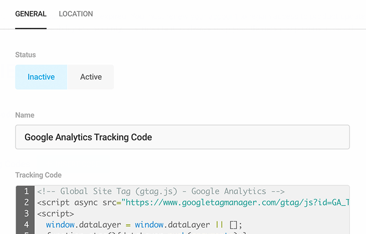 Google analytics tracking with Branda