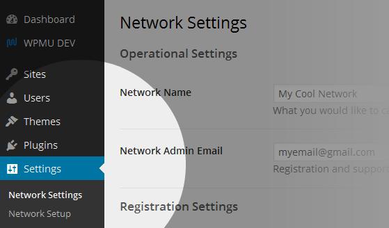 Go to Settings > Network Settings