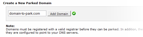 Parking a domain in cPanel