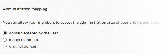 Select the administration mapping option.