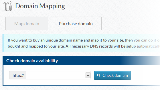 Purchase a domain name right from wp-admin!