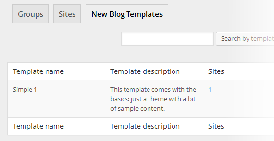 Multisite Content Copier - Templates