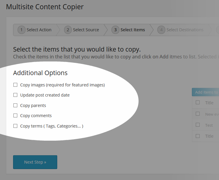 Multisite Content Copier Copy Terms