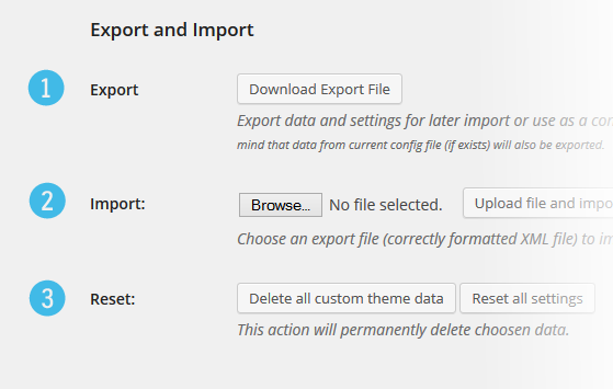 Multisite Theme Manager Import Export