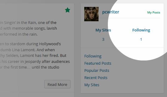 Reader Sites Followed