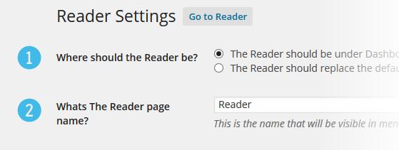 Reader Settings