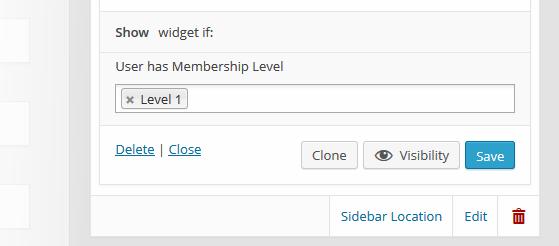 Custom Sidebars Pro Membership Visibility Rule