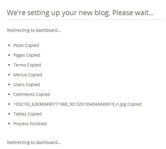 Cloner - setting up your new blog