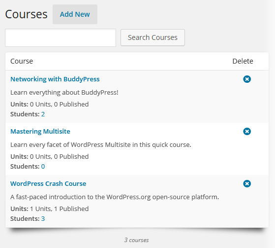 CoursePress - Courses